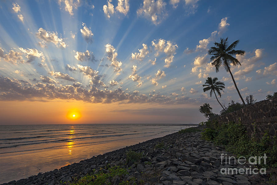 Sunset at Alibag, Alibag, 2007 by Hitendra SINKAR
