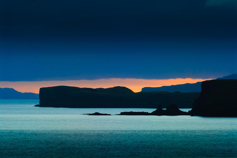 Seascape Photograph - Sunset at Ardteck Isle of Skye by David Ross