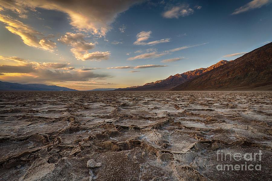 Sunset At Badwater Basin Photograph