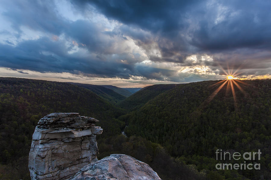Landscapes Photograph - Sunset At Blackwater Falls State Park by Amber Kresge