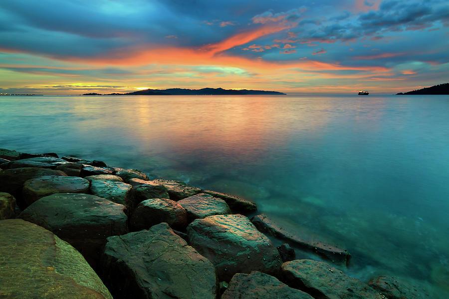 Sunset At Borneo, Sabah, Malaysia Photograph by Macbrian Mun