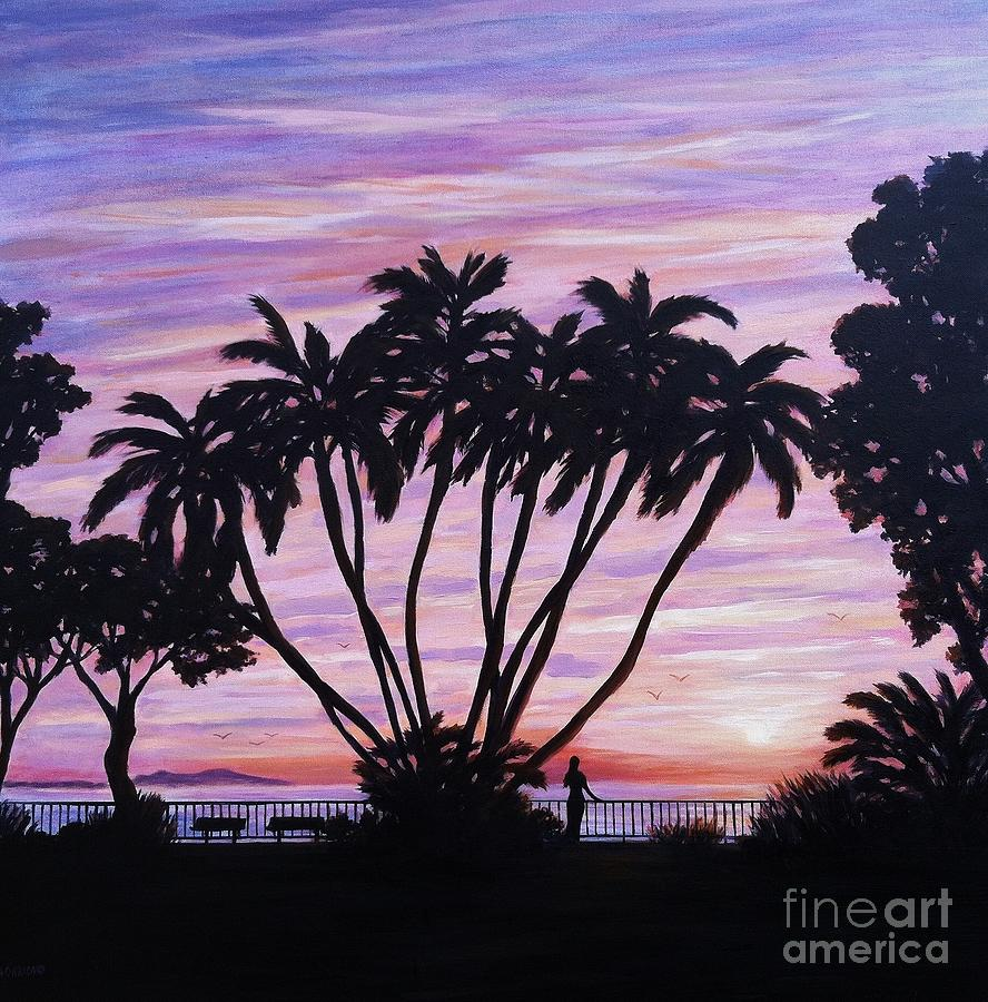Sunset Painting - Sunset At C Street Ventura by Tina Obrien