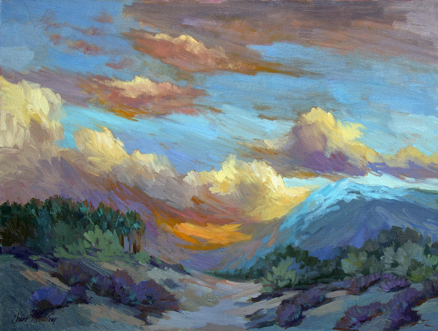 Sunset Painting - Sunset At Coachella Valley by Diane McClary