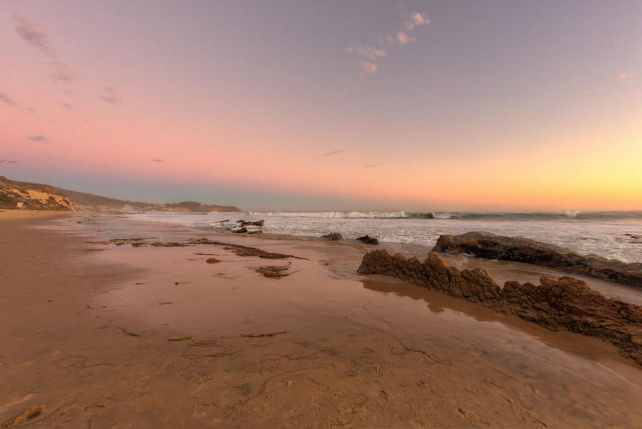 Crystal Cove Photograph - Sunset At Crystal Cove Hdr by Angela A Stanton