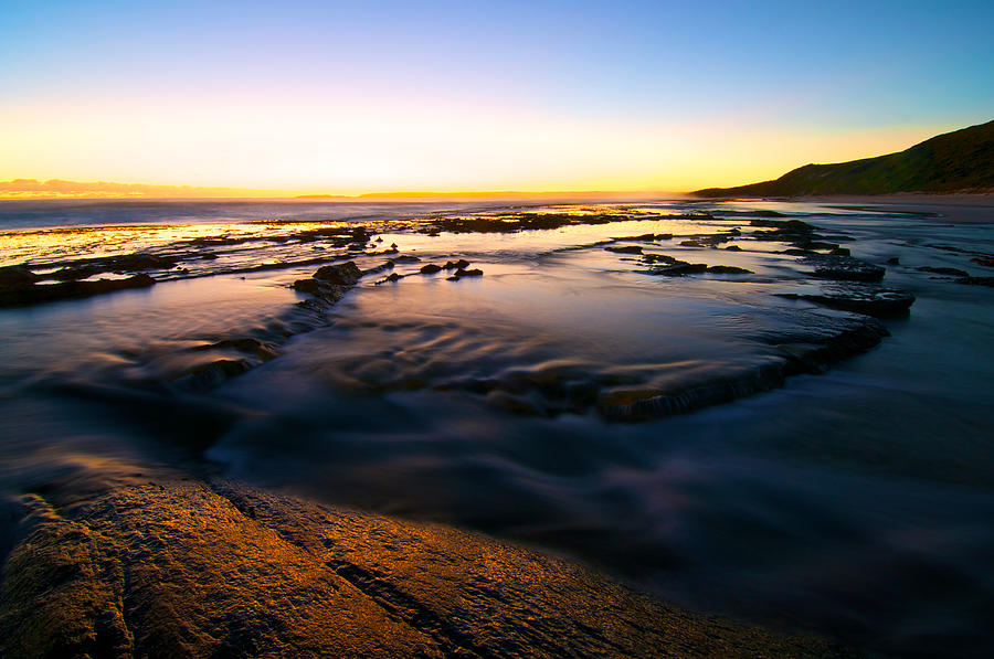 Beach Photograph - Sunset At Eleven Mile by Sally Nevin