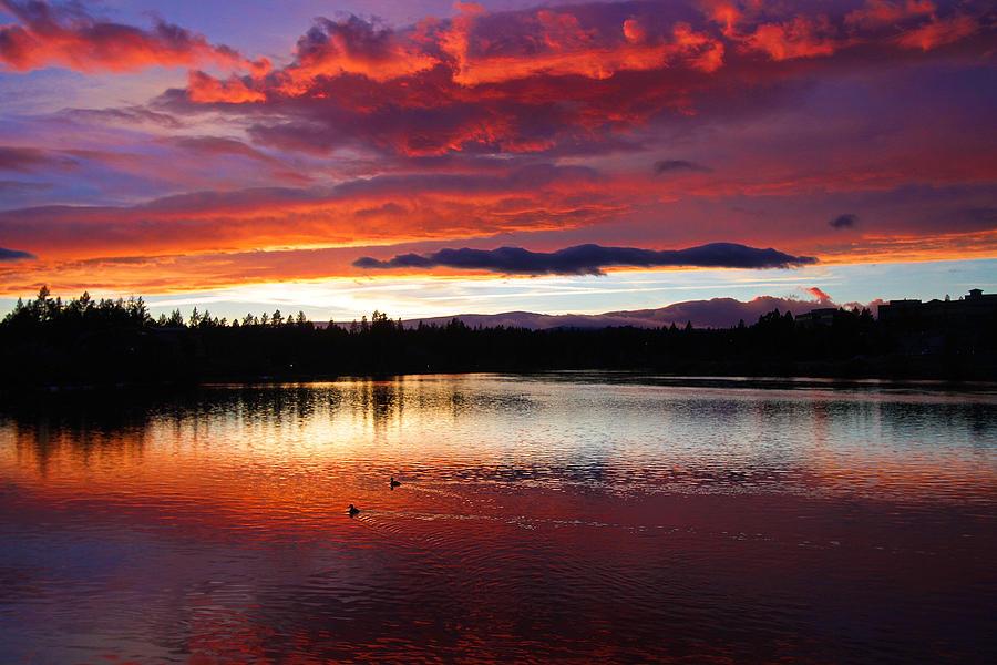 Sunset Photograph - Sunset At Farewell Bend Park by Engin Tokaj