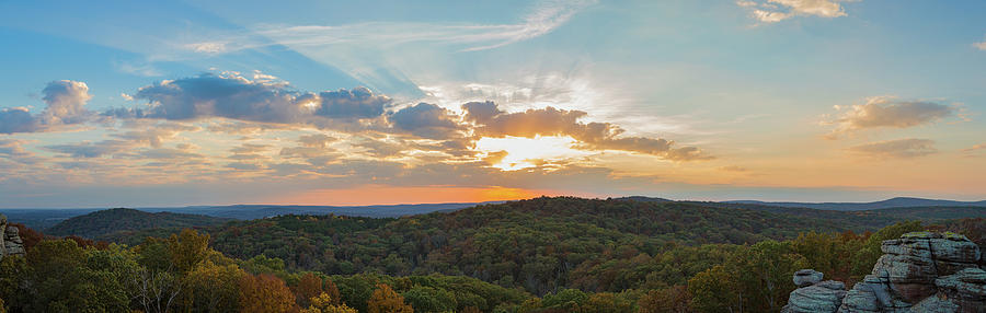 Horizontal Photograph - Sunset At Garden Of The Gods by Panoramic Images