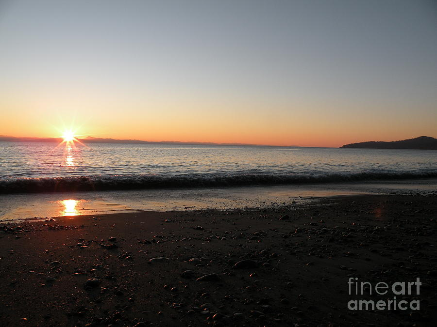 Water Photograph - Sunset At Gordons Beach by Val Carosella