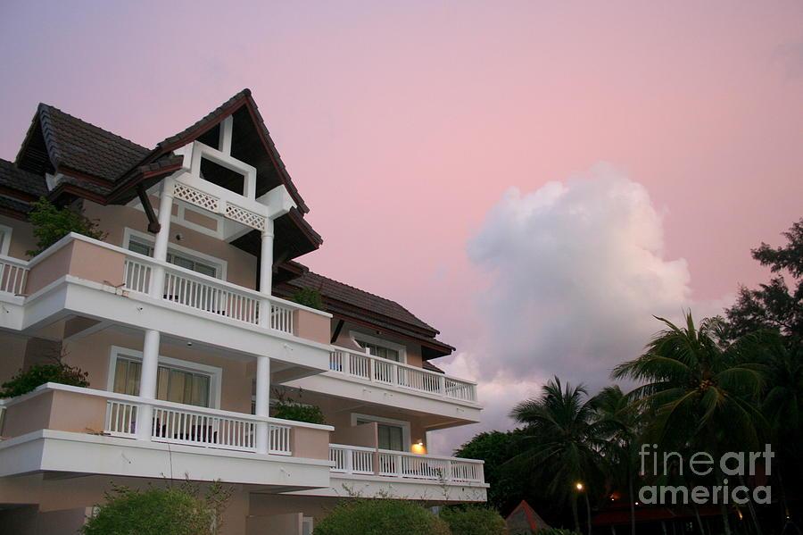 Hotel Photograph - Sunset At Grand Laguna by Lene Pieters