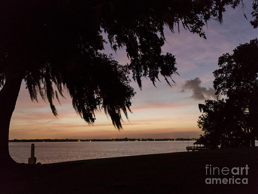 Sunset Photograph - Sunset At Jefferson Island by Kelly Morvant