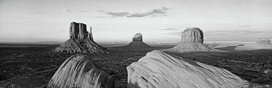 Horizontal Photograph - Sunset At Monument Valley, Monument by Panoramic Images