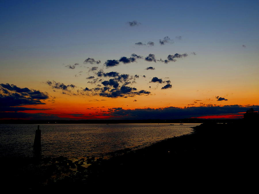 Sun Photograph - Sunset At Nathan Hale by Stephen Melcher