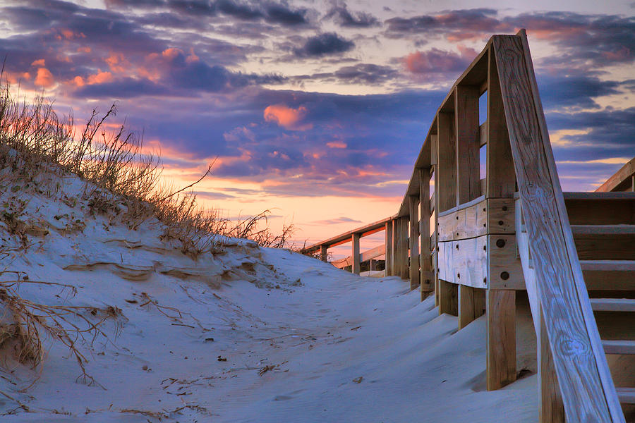 Island Photograph - Sunset At Ocracoke by Steven Ainsworth