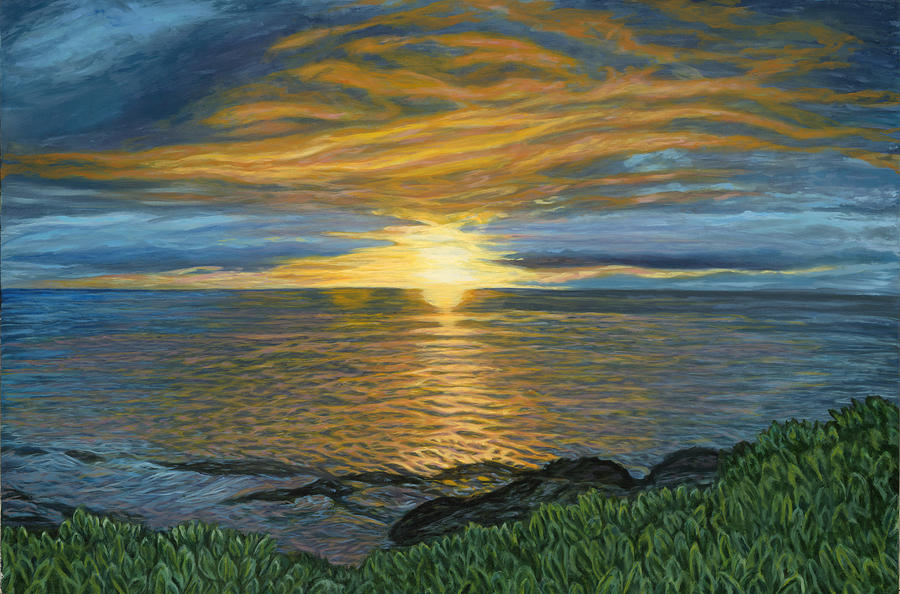 Sunset Painting - Sunset At Paradise Cove by Michael Allen Wolfe