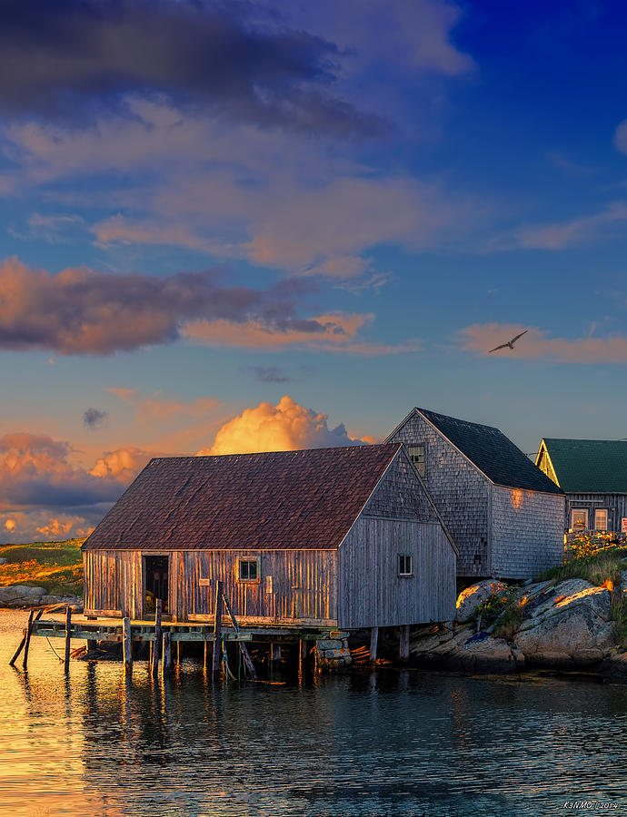 Peggy's Cove Photograph - Sunset At Peggys Cove 06 by Ken Morris