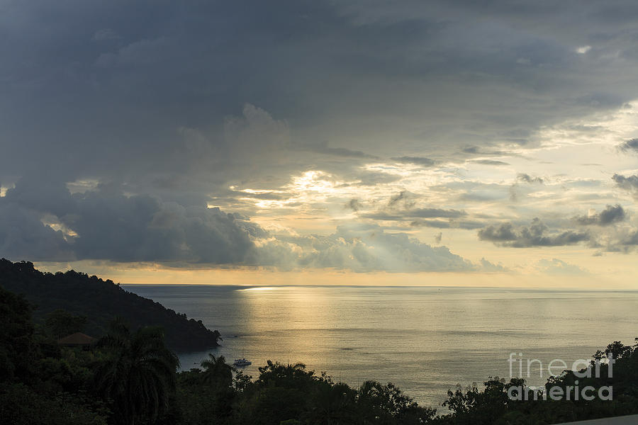 Sunset Photograph - sunset at Quepos by Russell Christie