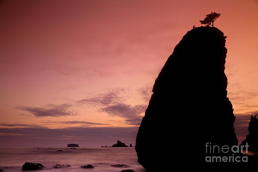 Seascape Photograph - Sunset At Rialto Beach by Keith Kapple