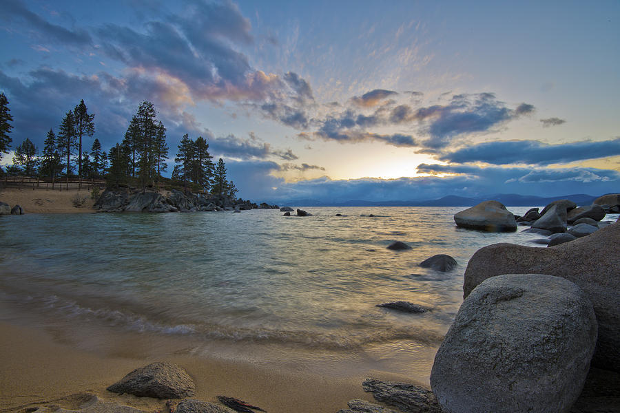 Sunset At Sand Harbor Divers Cove Photograph