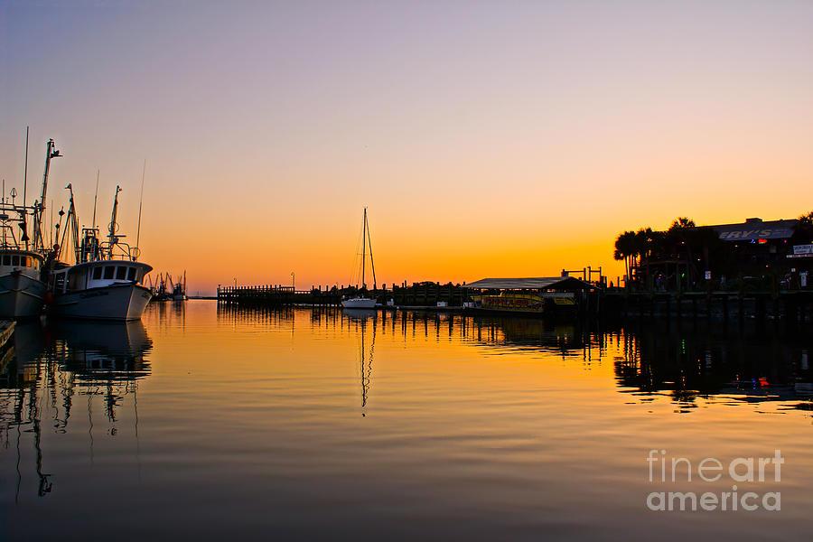 Shem Creek Photograph - Sunset At Shem Creek by Matthew Trudeau