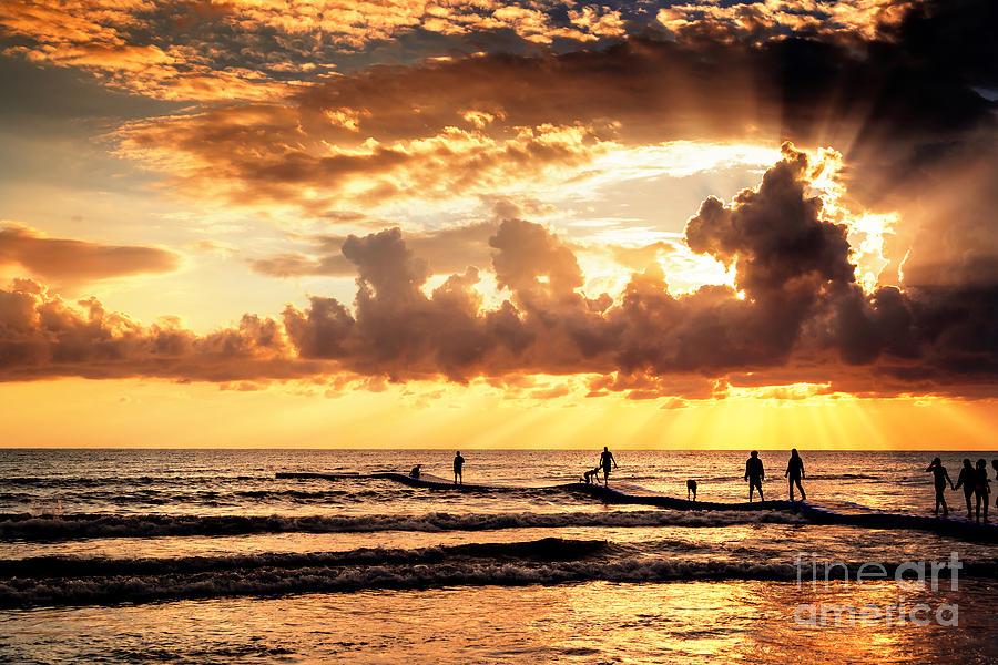 Sunset At Side Beach Photograph