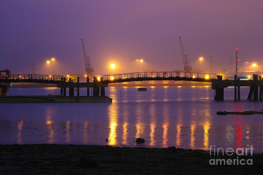 Sunset Photograph - Sunset At Southampton Docks by Terri Waters