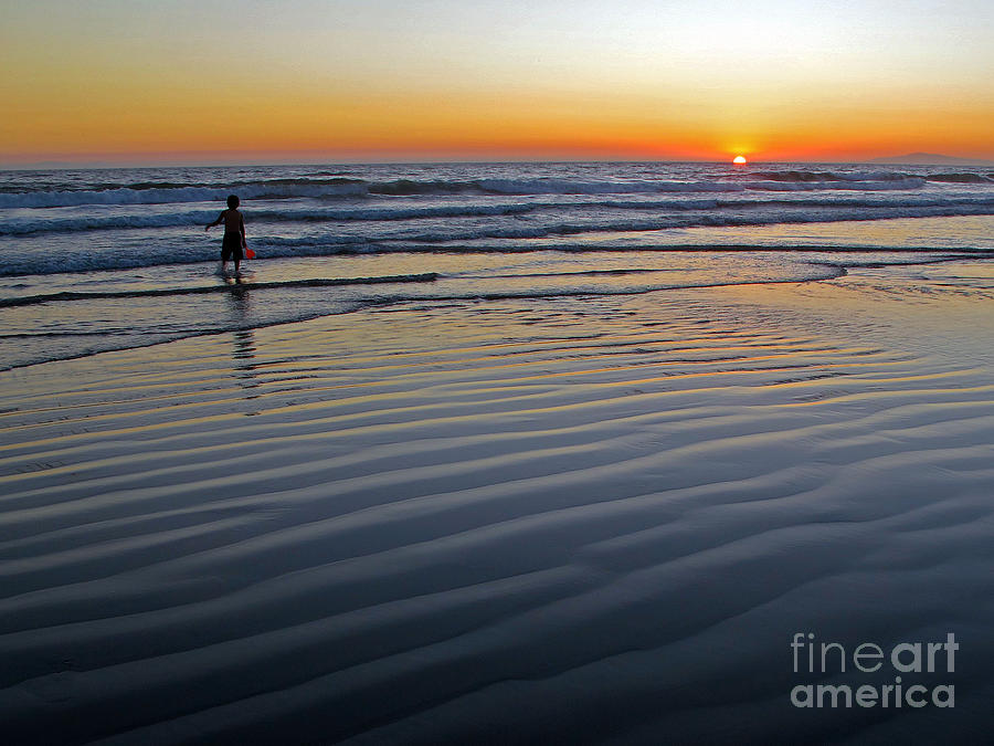 Ocean Photograph - Sunset At The Beach by Kelly Holm