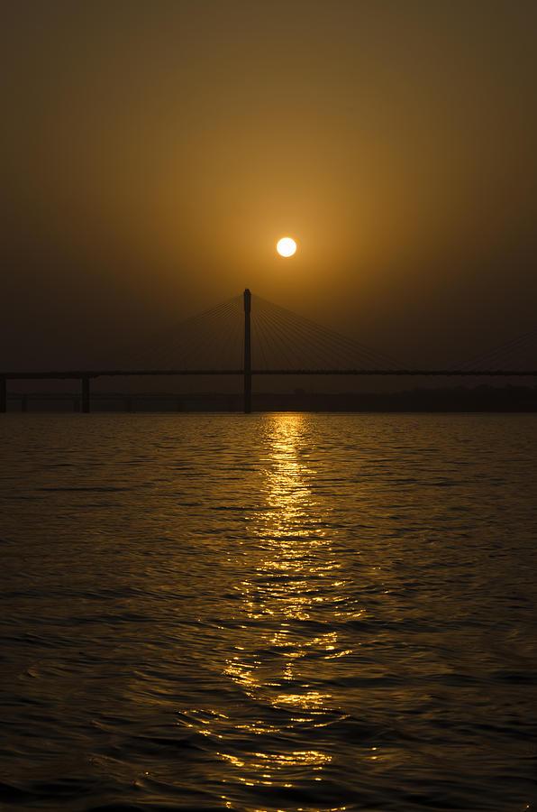 Ganga Photograph - Sunset At The Ganga - Allahabad by Rohit Chawla