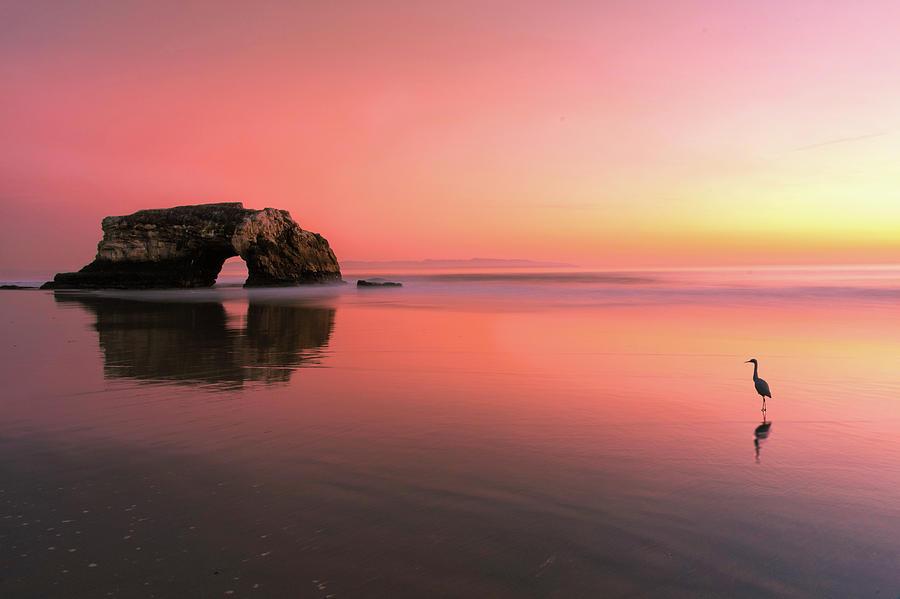 Pink Photograph - Sunset At The Natural Bridge-2 by Rob Li
