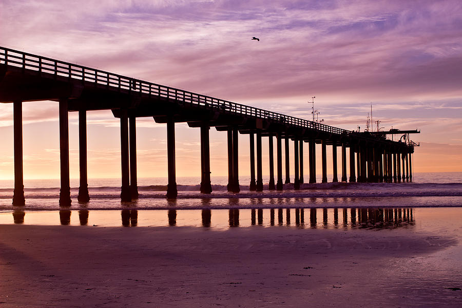 Sunset Photograph - Sunset At The Pier by Brooke Fuller