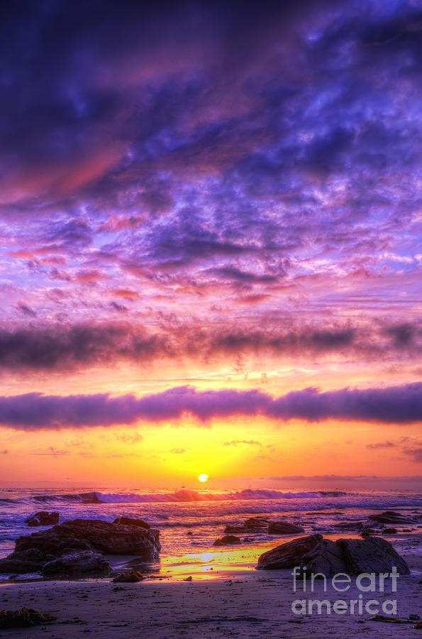 Sunset Photograph - Sunset At Treasure Cove by Eddie Yerkish