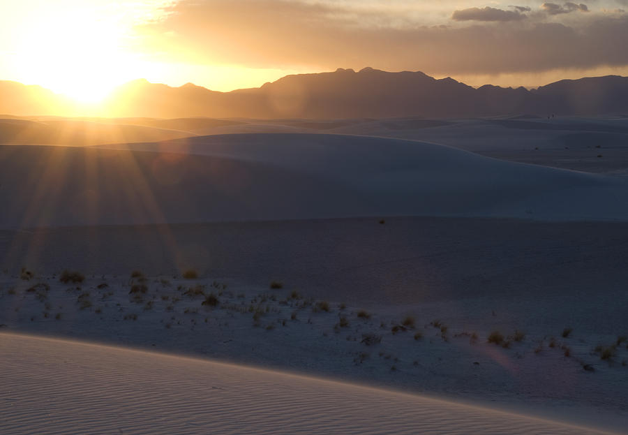 Sunset Photograph - Sunset at White Sands by Jessica Wakefield