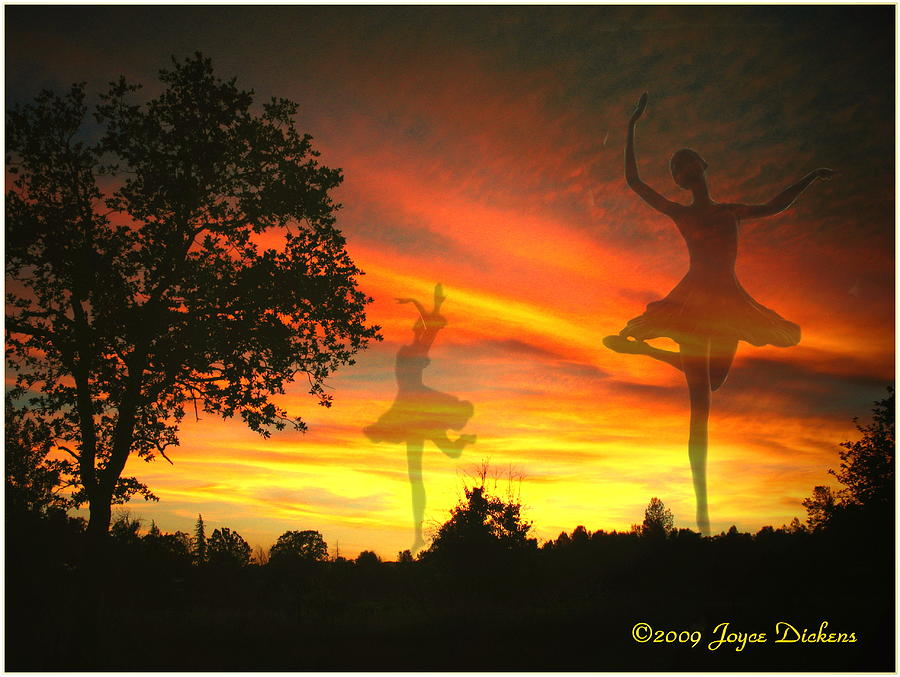 Ballerina Photograph - Sunset Ballerina by Joyce Dickens