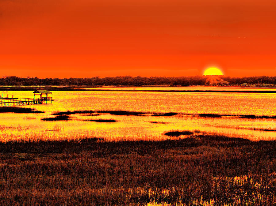 Canvas Prints Photograph - Sunset Bay by Dave Bosse