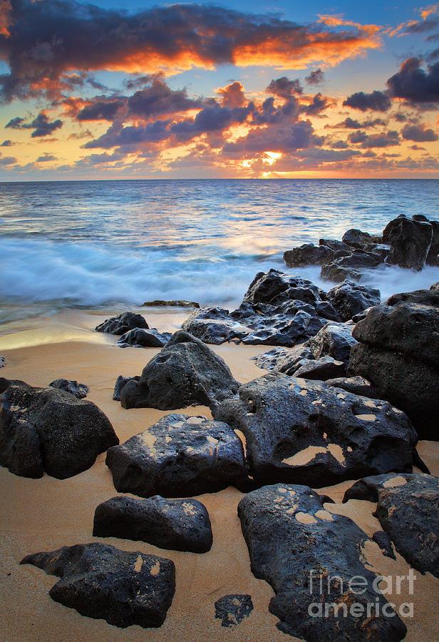 America Photograph - Sunset Beach by Inge Johnsson