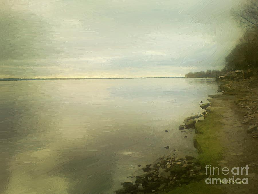 Clouds Painting - Sunset Before The Storm by RC DeWinter
