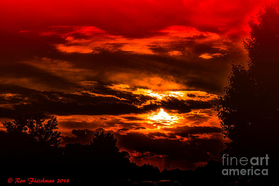 Sunset Before The Storm Photograph by Ron Fleishman