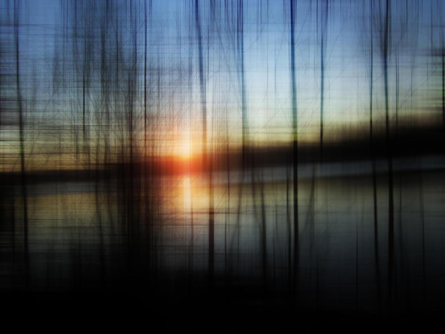 Atmosphere Photograph - Sunset Blur by Florin Birjoveanu