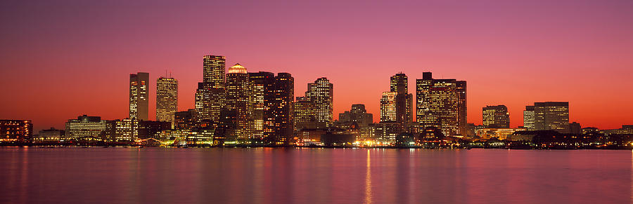 Sunset Boston Ma Photograph By Panoramic Images