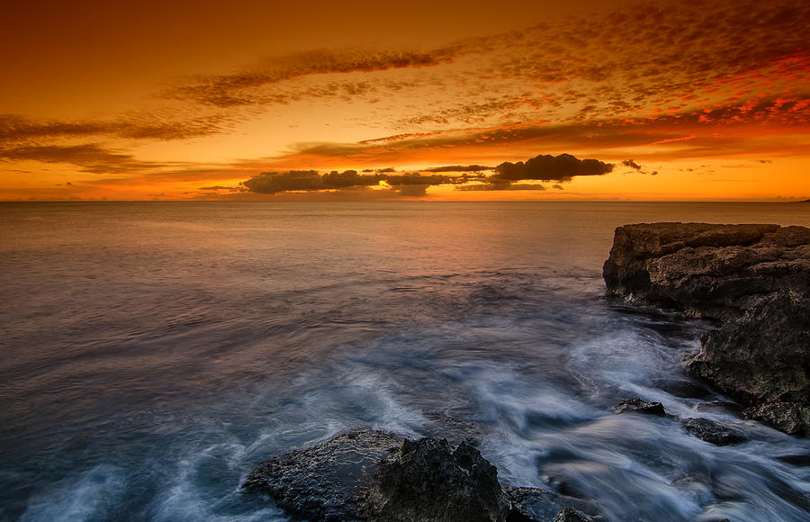 Sunset Photograph - Sunset By The Cliff by Tin Lung Chao