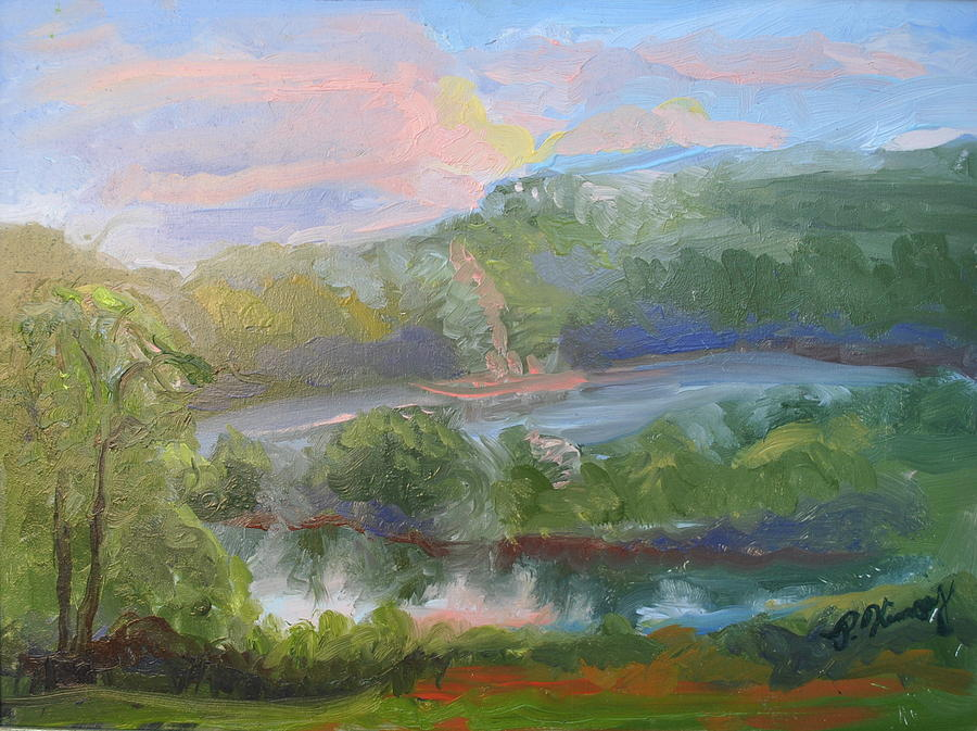 Sunset by the Lake by Patricia Kimsey Bollinger