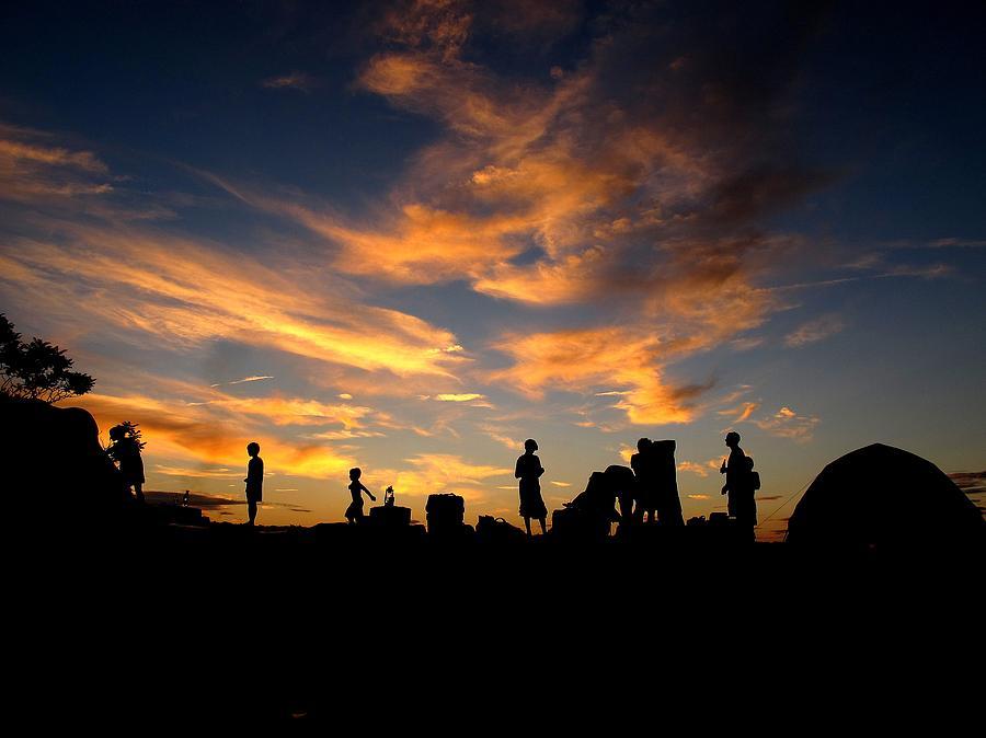Sunset Camp Photograph