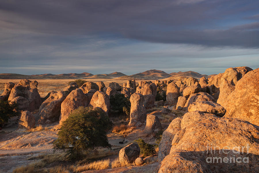 Geological Formations Photograph - Sunset City Of Rocks by Martin Konopacki