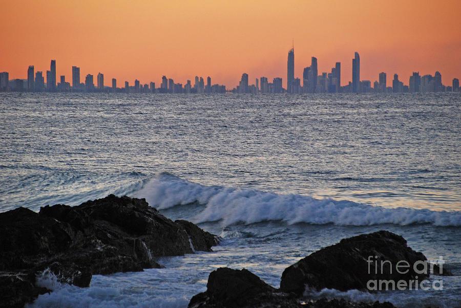 Sunset cityscape horizon by Ankya Klay