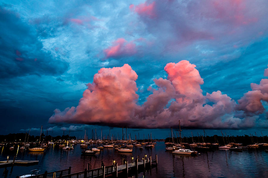 Atlantic Ocean Photograph - Sunset Clouds by Jonathan Gewirtz