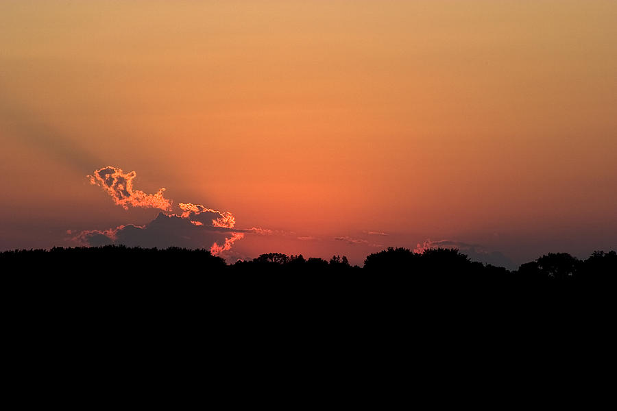Sunset Photograph - Sunset Clouds by Mark Russell