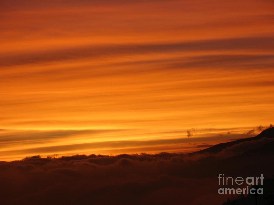 Sunset - Coucher De Soleil - Plaine Des Cafres - Ile De La Reunion - Reunion Island - Indian Ocean Photograph by Francoise Leandre