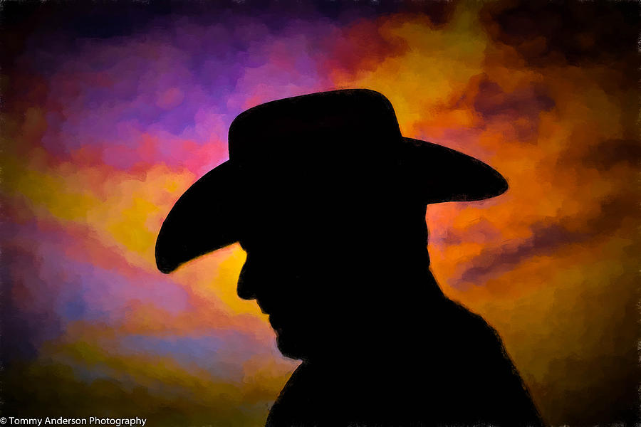Sunset Cowboy Photograph by Tommy Anderson