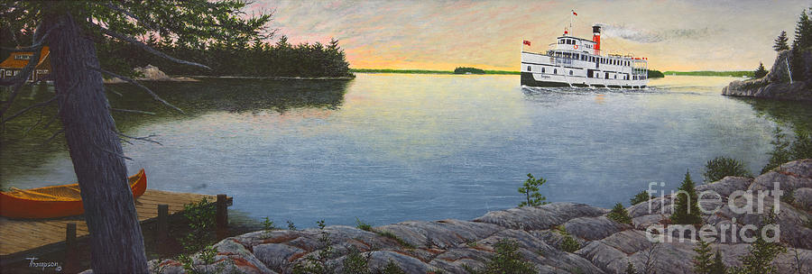 Sunset Painting - Sunset Cruise by Ron Thompson