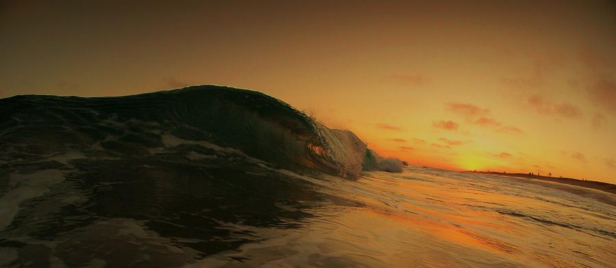 The Wedge Photograph - Sunset Curl by Daniel Rainey