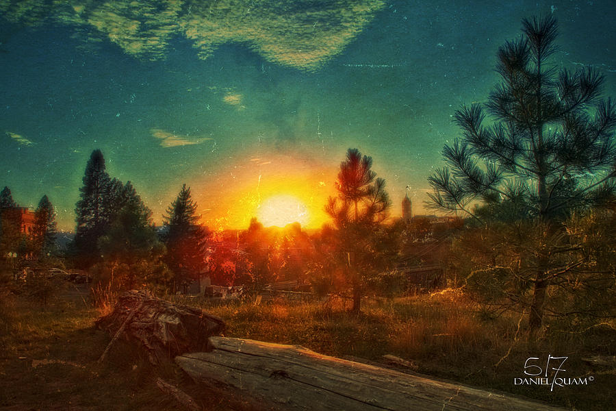 Spokane Wa Photograph - Sunset by Dan Quam
